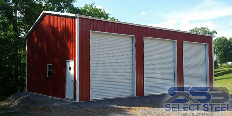 Red-all-vertical-steel-building-three-bay-24x45